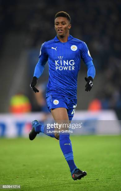 Demarai Gray of Leicester City in action during the Premier League match between Leicester City and Manchester United at The King Power Stadium on...