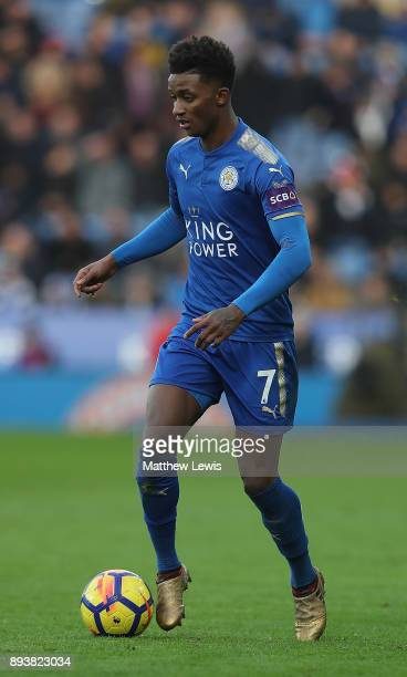 Demarai Gray of Leicester City in action during the Premier League match between Leicester City and Crystal Palace at The King Power Stadium on...