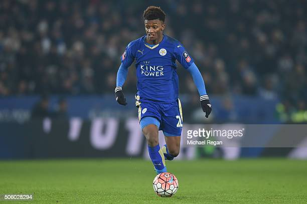 Demarai Gray of Leicester in action during the Emirates FA Cup Third Round Replay match between Leicester City and Tottenham Hotspur at The King...