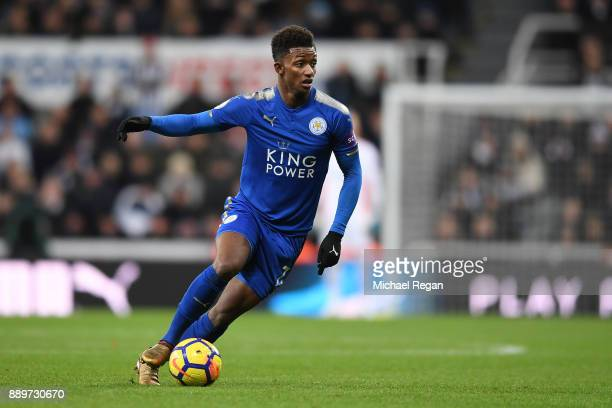 Demarai Gray of Leicester in action during the Premier League match between Newcastle United and Leicester City at St James Park on December 9 2017...
