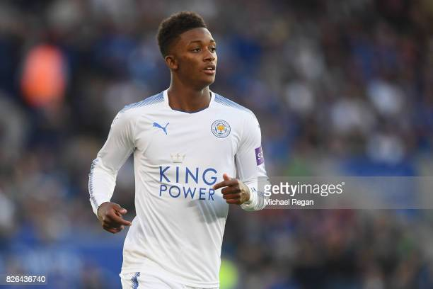 Demarai Gray of Leicester looks on during the preseason friendly match between Leicester City and Borussia Moenchengladbach at The King Power Stadium...