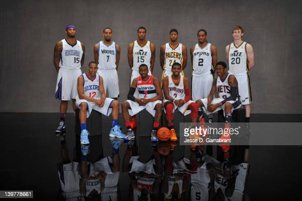 DeMarcus Cousins Evan Turner Derrick Williams Derrick Favors John Wall Paul George Kyrie Irving Kawji Leonard MarShon Brooks and Gordon Hayward of...