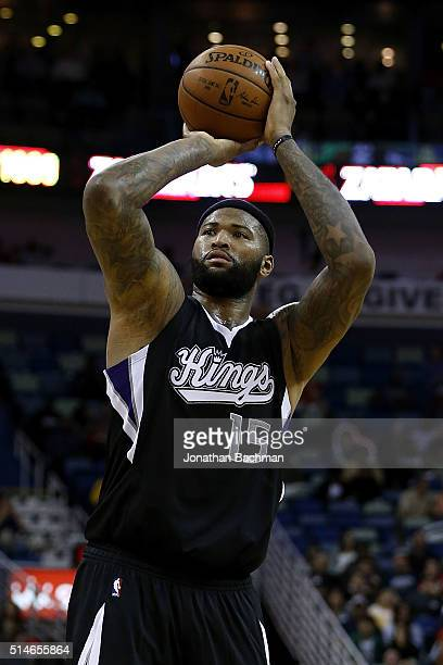 DeMarcus Cousins of the Sacramento Kings shoots the ball during a game at Smoothie King Center on March 7 2016 in New Orleans Louisiana NOTE TO USER...