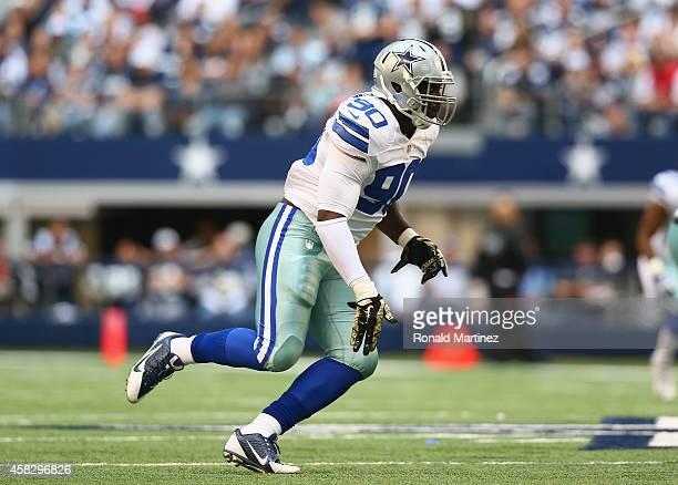 DeMarcus Lawrence of the Dallas Cowboys at ATT Stadium on November 2 2014 in Arlington Texas