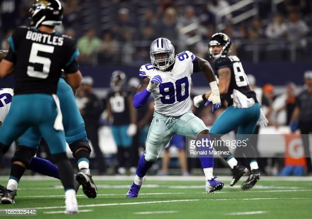 Demarcus Lawrence of the Dallas Cowboys at ATT Stadium on October 14 2018 in Arlington Texas