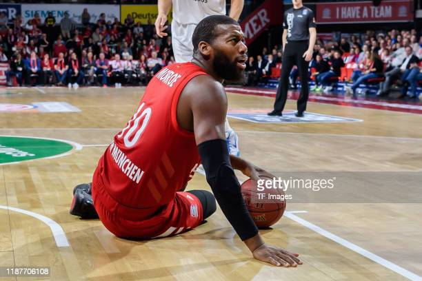 DeMarcus Nelson of FC Bayern Muenchen looks on during the EasyCredit Basketball Bundesliga match between FC Bayern Basketball and BG Goettingen at...