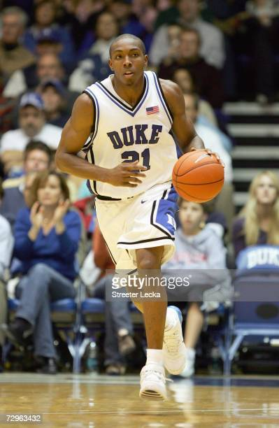 DeMarcus Nelson of the Duke Blue Devils dribbles the ball during the game against the Temple Owls at Cameron Indoor Stadium on January 2, 2007 in...