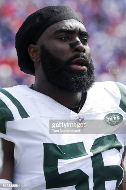 Demario Davis of the New York Jets during the first half against the Buffalo Bills on September 10 2017 at New Era Field in Orchard Park New York