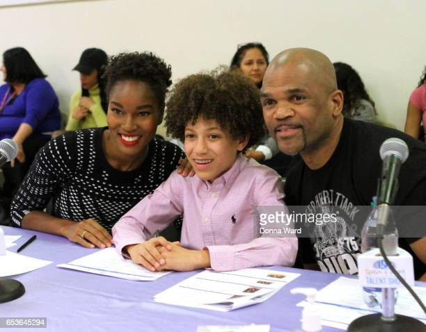Demaris Lews Brandon Niederauer and Darryl 'DMC' McDaniels appear during the 11th Annual Garden of Dreams Talent Show rehearsal at Radio City Music...