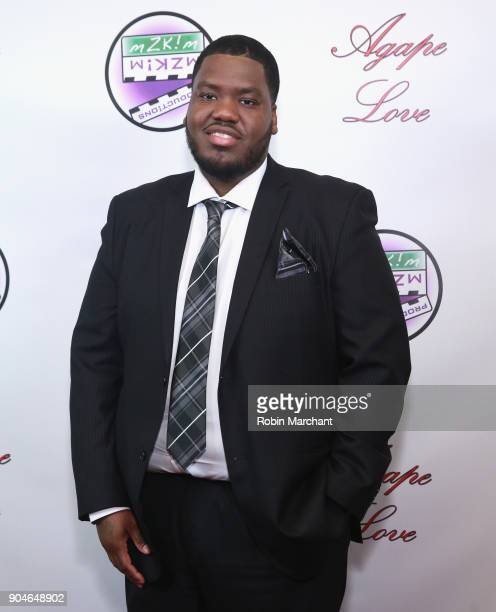 Demark Reed attends Agape Love Red Carpet on January 13 2018 in Milwaukee Wisconsin