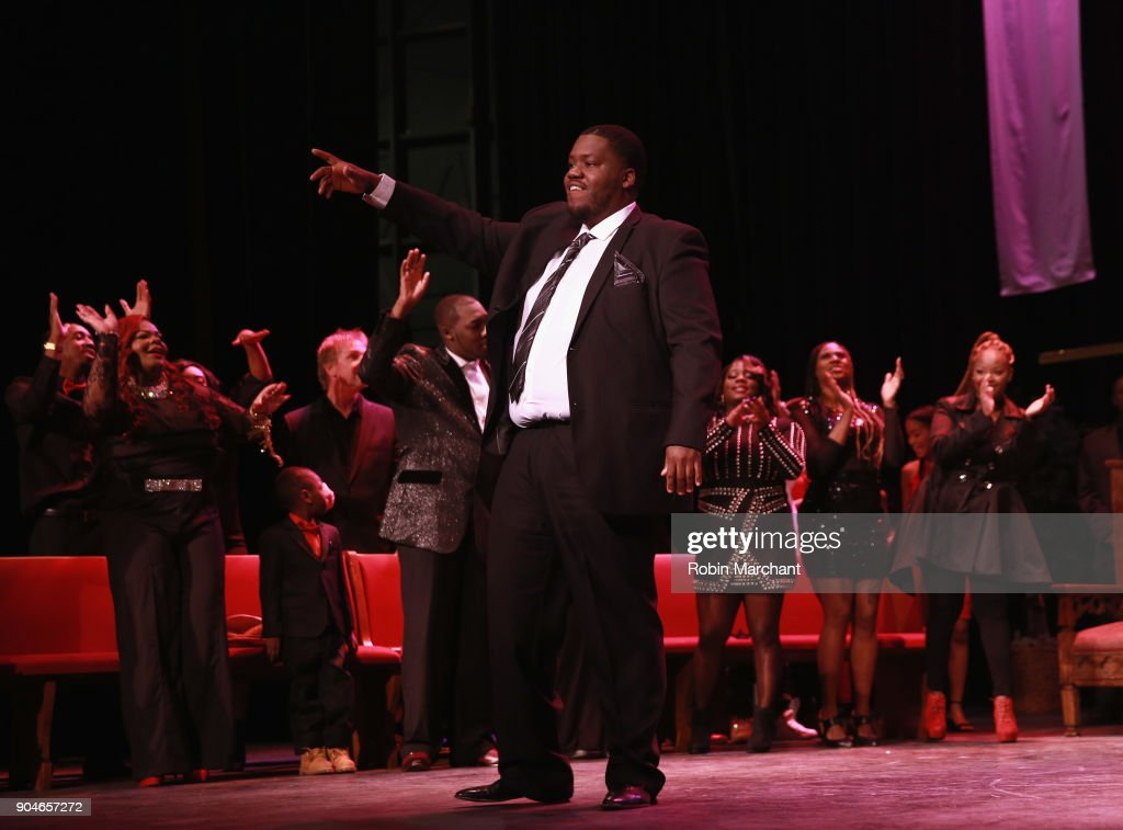 Demark Reed rehearses Agape Love Musical Stage Play on January 13, 2018 in Milwaukee, Wisconsin.