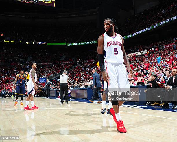 DeMarre Carroll of the Atlanta Hawks during Game One of the Eastern Conference Finals against the Cleveland Cavaliers during the NBA Playoffs on May...