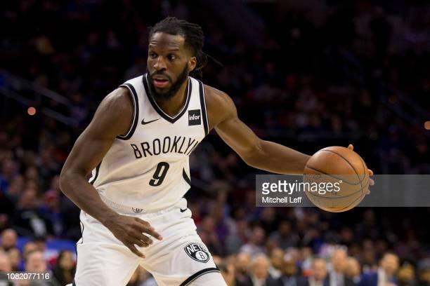 DeMarre Carroll of the Brooklyn Nets dribbles the ball against the Philadelphia 76ers at the Wells Fargo Center on December 12 2018 in Philadelphia...