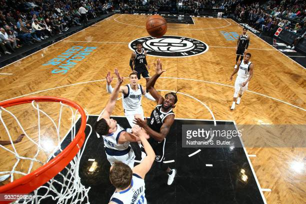 DeMarre Carroll of the Brooklyn Nets goes to the basket against the Dallas Mavericks on March 17 2018 at Barclays Center in Brooklyn New York NOTE TO...
