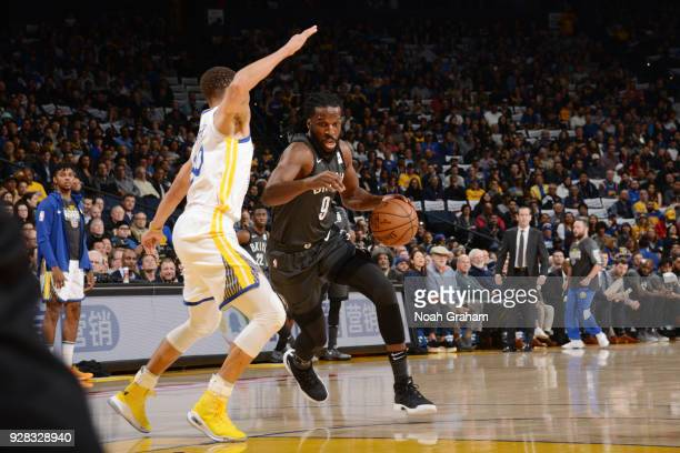 DeMarre Carroll of the Brooklyn Nets handles the ball against the Golden State Warriors on March 8 2018 at ORACLE Arena in Oakland California NOTE TO...
