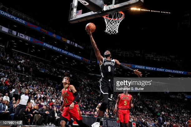 DeMarre Carroll of the Brooklyn Nets shoots the ball against the Atlanta Hawks on January 9 2019 at Barclays Center in New York City New York NOTE TO...
