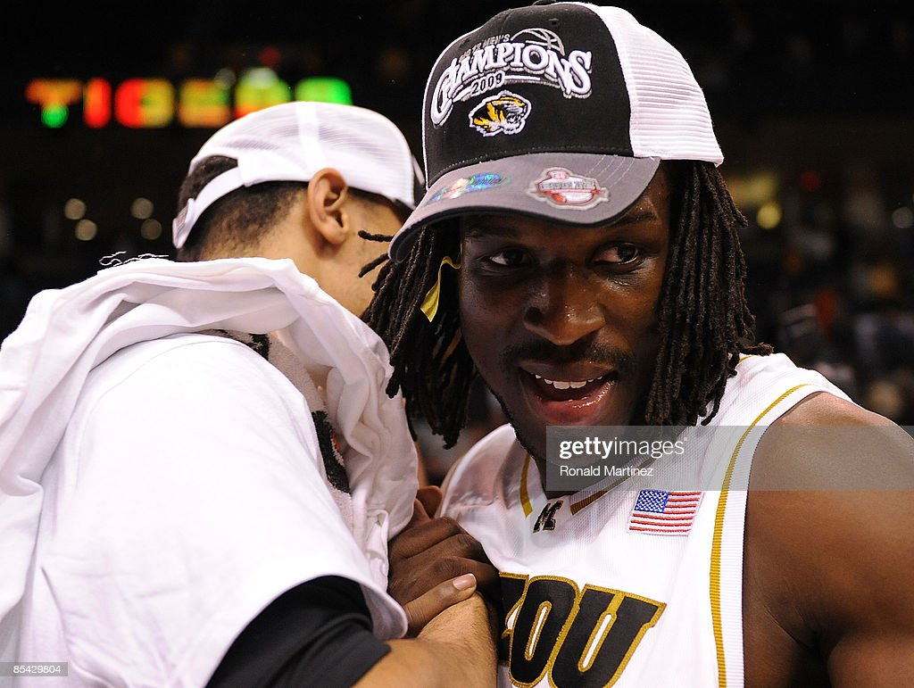 DeMarre Carroll #1 of the Missouri Tigers celebrates after winning the Phillips 66 Big 12 Men's Basketball Championship finals at the Ford Center March 14, 2009 in Oklahoma City, Oklahoma.