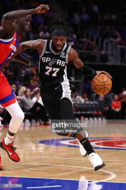 DeMarre Carroll of the San Antonio Spurs plays against the Detroit Pistons at Little Caesars Arena on December 01 2019 in Detroit Michigan NOTE TO...