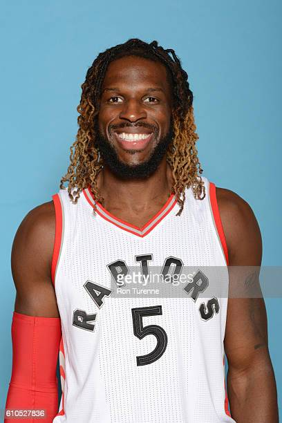 DeMarre Carroll of the Toronto Raptors poses for a head shot during the 20162017 Media Day on September 26 2016 at the BioSteel Centre in Toronto...