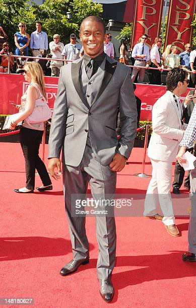 Demaryius Thomas arrives at the 2012 ESPY Awards at Nokia Theatre L.A. Live on July 11, 2012 in Los Angeles, California.