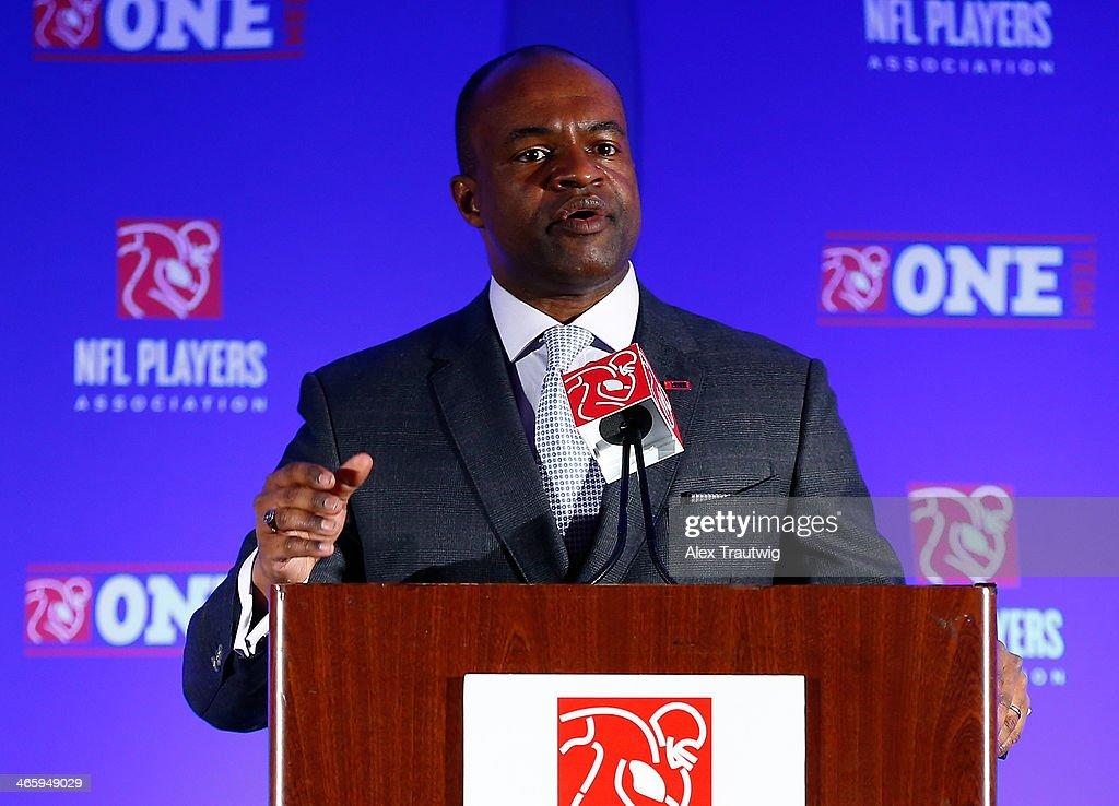 Super Bowl XLVIII NFLPA Press Conference : News Photo