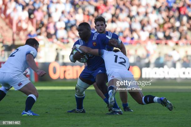 Demba Bamba of France during the Final World Championship U20 match between England and France on June 17 2018 in Beziers France