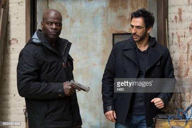 THE BLACKLIST 'Dembe Zuma' Episode 416 Pictured Hisham Tawfiq as Dembe Zuman Amir Arison as Aram Mojtabai