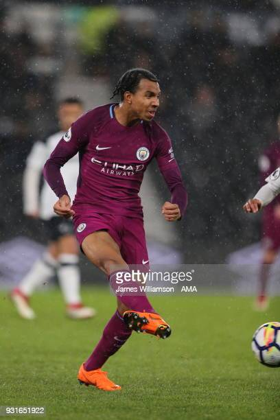 Demeaco Duhaney of Manchester City during the Premier League 2 match between Derby County and Manchester City on March 9 2018 in Derby England
