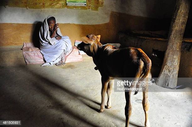 Dementia patient is cared for at home. Ethiopia