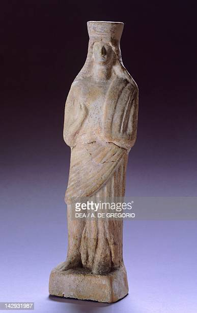 Demeter terracotta statue from Apollonia Greek Civilization 5th Century BC Tirana Museo Archeologico