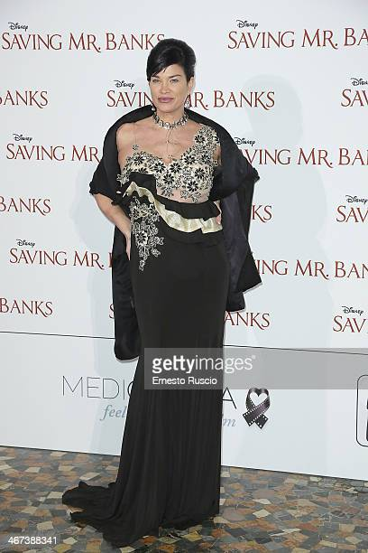 Demetra Hampton attends the 'Saving Mr Banks' premiere at The Space Moderno on February 6 2014 in Rome Italy