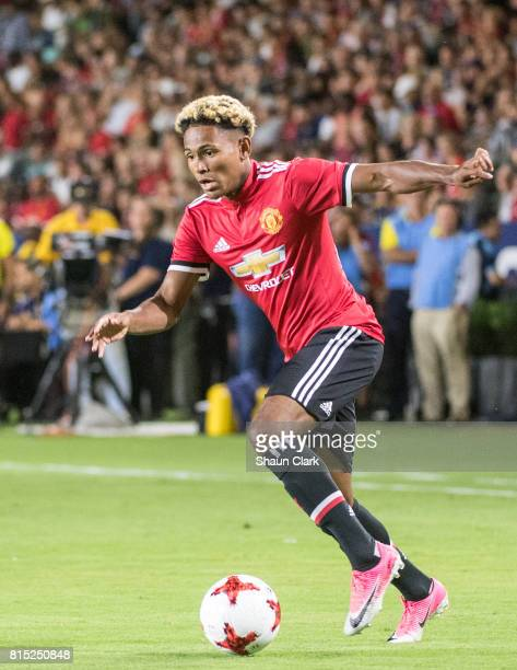 Demetri Mitchell of Manchester United during the Los Angeles Galaxy's friendly match against Manchester United at the StubHub Center on July 15 2017...