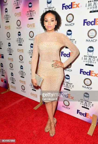 Demetria McKinney at the 49th NAACP Image Awards NonTelevised Awards Dinner at the Pasadena Conference Center on January 14 2018 in Pasadena...