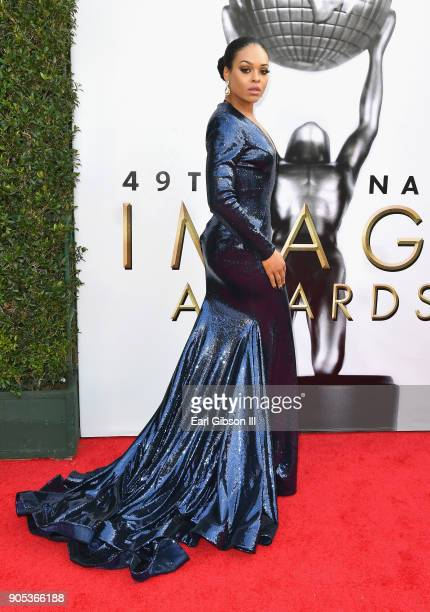 Demetria McKinney at the 49th NAACP Image Awards on January 15 2018 in Pasadena California