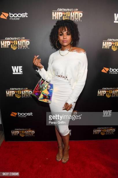 Demetria McKinney attends 'Growing Up Hip Hop Atlanta' season 2 premiere party at Woodruff Arts Center on January 9 2018 in Atlanta Georgia