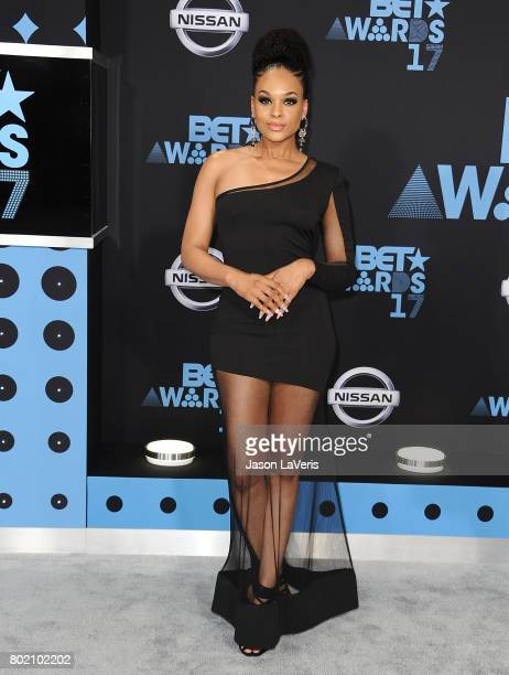 Demetria McKinney attends the 2017 BET Awards at Microsoft Theater on June 25 2017 in Los Angeles California