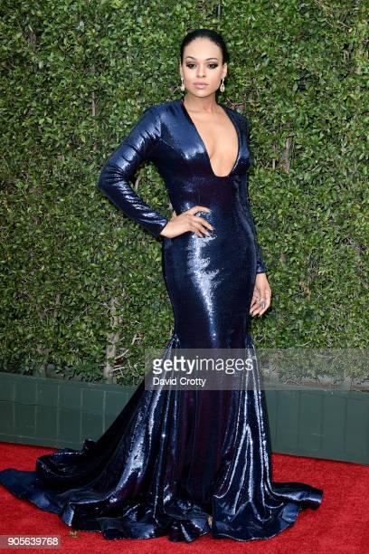 Demetria McKinney attends the 49th NAACP Image Awards Arrivals at Pasadena Civic Auditorium on January 15 2018 in Pasadena California