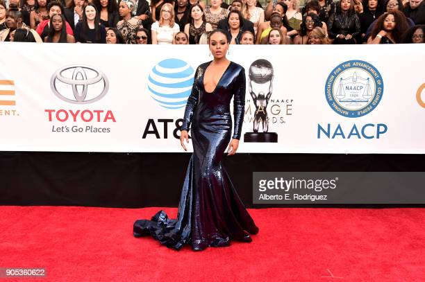 Demetria McKinney attends the 49th NAACP Image Awards at Pasadena Civic Auditorium on January 15 2018 in Pasadena California