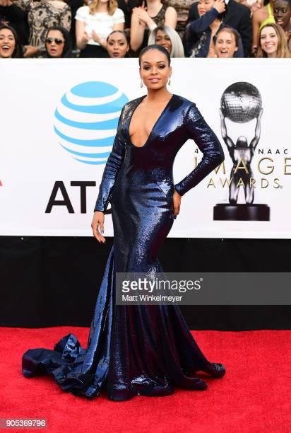 Demetria McKinney attends the 49th NAACP Image Awards at Pasadena Civic Auditorium on January 15 2018 in Pasadena California