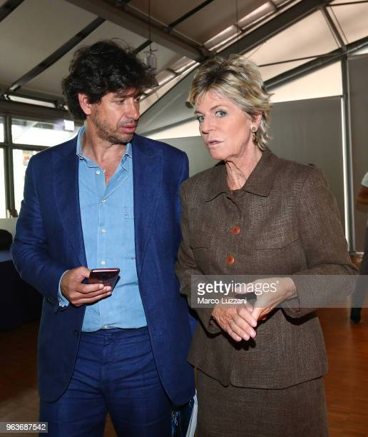 Demetrio Albertini and Evelina Christillin during the unveiling of 'Report Calcio' Italian Football Federation annual report on May 30 2018 in Milan...