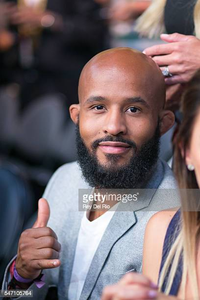 Demetrious Johnson in attendance during the UFC 200 event at TMobile Arena on July 9 2016 in Las Vegas Nevada