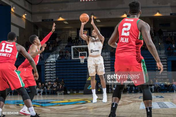 Demetrius Jackson of the Delaware 87ers shoots the ball against the Maine Red Claws during a GLeague game on March 13 2018 at the Bob Carpenter...