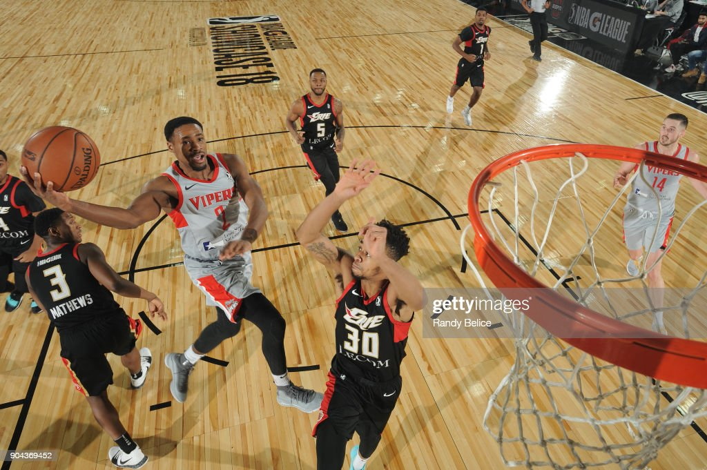Demetrius Jackson #2 of the Rio Grande Valley Vipers goes to the basket against the Erie BayHawks during NBA G-League Showcase Game 21 on January 12, 2018 at the Hershey Centre in Mississauga, Ontario Canada.