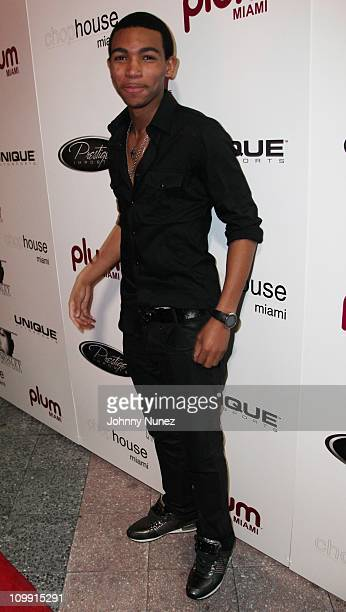 Demetrius Mosley attends Timbaland's birthday party at the Chop House on March 9 2011 in Miami Florida