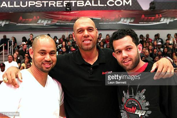 Demetrius Spencer Tracy Murray and Jordan Farmar during the Ball Up Allstars 2011 Streetball Season Game 7 at Cal State Northridge on May 14 2011 in...