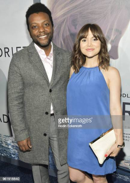 Demetrius Wren and Christina Wren arrive at the premiere of STX Films' 'Adrift' at Regal LA Live Stadium 14 on May 23 2018 in Los Angeles California