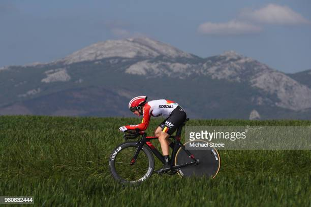 Demi De Jong of Netherlands and Lotto Soudal Ladies during the 31st Women WT EmakumeenBira Stage 2 266km Individual Time Trial from Agurain to...