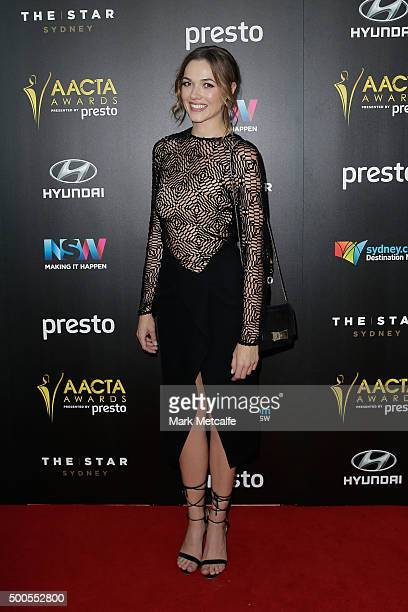 Demi Harman arrives ahead of the 5th AACTA Awards Presented by Presto at The Star on December 9 2015 in Sydney Australia
