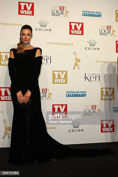 Demi Harman arrives at the 58th Annual Logie Awards at Crown Palladium on May 8 2016 in Melbourne Australia