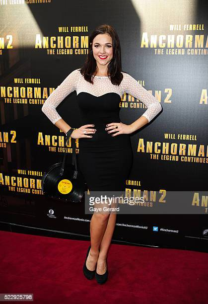 Demi Harman arrives at the 'Anchorman 2 The Legend Continues' Australian premiere at The Entertainment Quarter on November 24 2013 in Sydney Australia